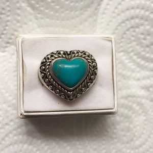 Jewelry - SOLD Heart Shaped Turquoise Ring